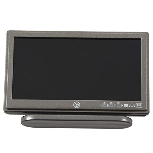 Gaoominy Puppenhaus Miniatur Breitbild Fernseher Flat Panel LCD TV w / Remote grau