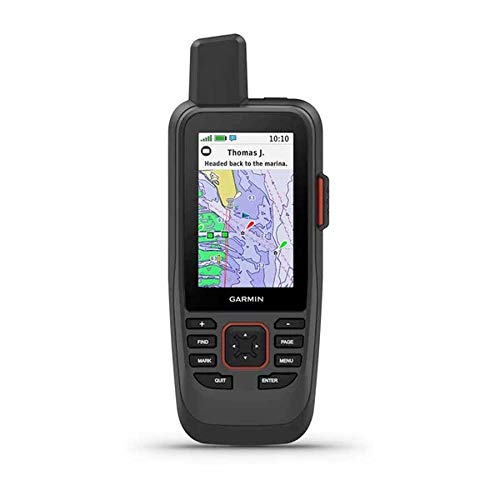 Garmin GPSMAP 86Sci, Floating Handheld GPS with Button Operation, Preloaded BlueChart G3 Coastal Charts And Inreach Satellite Communication capabilities, Stream Boat Data From Compatible Chartplotters
