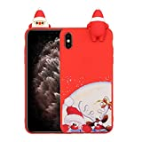 LAXIN iPhone Xs Case, iPhone X Silicone Case Cover Apple iPhone X / Xs (5.8 inch) Accessories Kits Protective Silicone Cover and Skin for Apple iPhone X / Xs (5.8 inch) Case (Santa Claus)