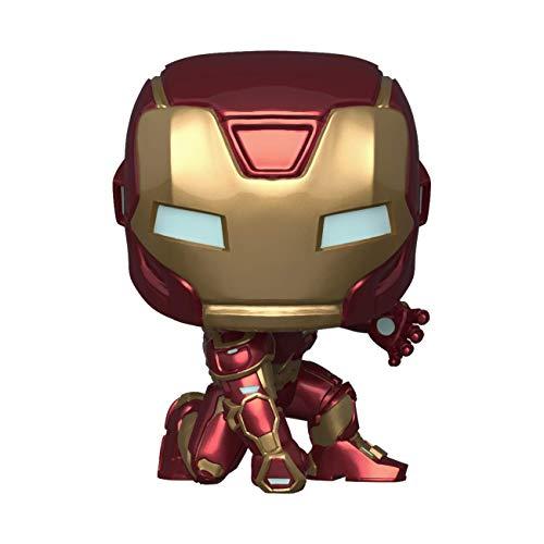 Funko - Pop! Marvel: Avengers Game - Iron Man Figurina, Stark Tech Suit, Multicolor (47756)