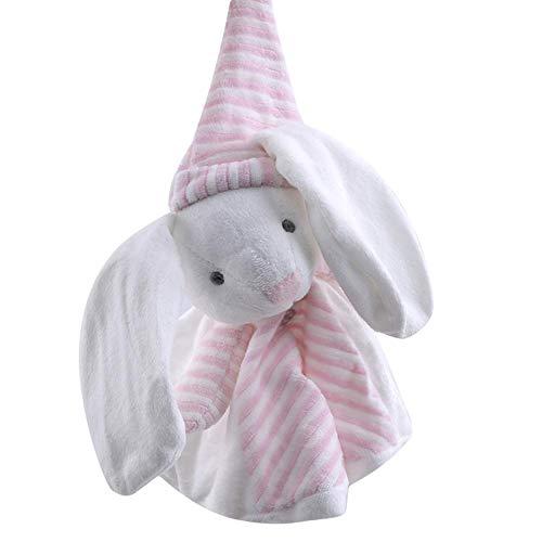 XWYWP Juguetes suaves bebé edredón juguete lindo animal de dibujos animados ratón oso suave felpa juguetes multifuncional Saliva toalla comodidad seguridad agradable la piel rosa