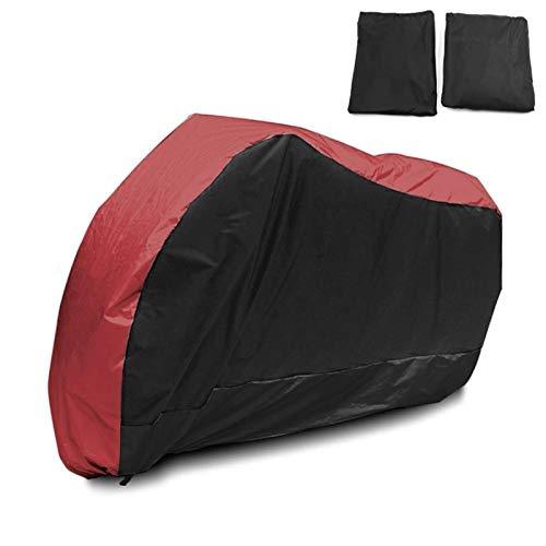 HAIHAOYF Cubierta Universal de Motocicleta, Protector UV al Aire Libre para Scooter Cubierta a Prueba de Polvo de Lluvia Impermeable (Color : Red Black L Size)