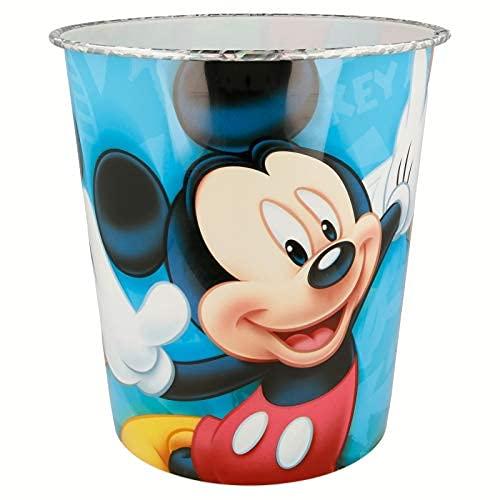 ILS I LOVE SHOPPING Cestino Rifiuti Pattumiera in plastica 23x21cm per Bambini (Mickey Mouse Topolino)
