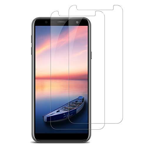 Bigmeda Panzerglas Folie für Samsung Galaxy J4 Plus/J6 Plus, [2 Stück] Transparent Samsung J4 Plus Schutzfolie, 9H Festigkeit, Ultra-klar, Blasenfrei, Panzerfolie Bildschirmschutzfolie Für Galaxy J4+/J6+