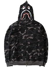 BAPE Shark-kleding voor heren met volledige rits Shark Head-trui Camouflage-sweatshirt met lange mouwen