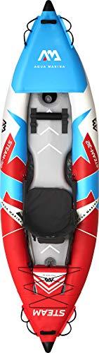 Aquamarina Unisex– Erwachsene Kayak 1 Posto Steam-312 Kajak, Rot/Blau/Weiß, Uni