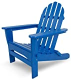 POLYWOOD AD5030PB Classic Folding Adirondack Chair, 35.00' x 29' x 35.00', Pacific Blue