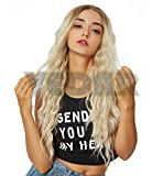 Vedar 613 Wigs with Brown Roots Long Hair Ombre Blonde Lace Front Wigs for Women Synthetic Hair Wigs with Brown Roots VEDAR-031-22
