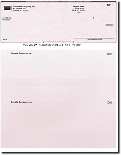 Computer Checks - 100 Printed Laser Computer Voucher Checks - Compatible for QuickBooks - Burgundy Diamond