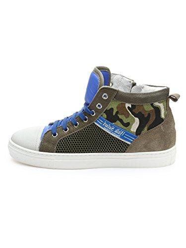 Walk Safari , Baskets pour garçon vert bleu camouflage - vert - bleu camouflage, 36