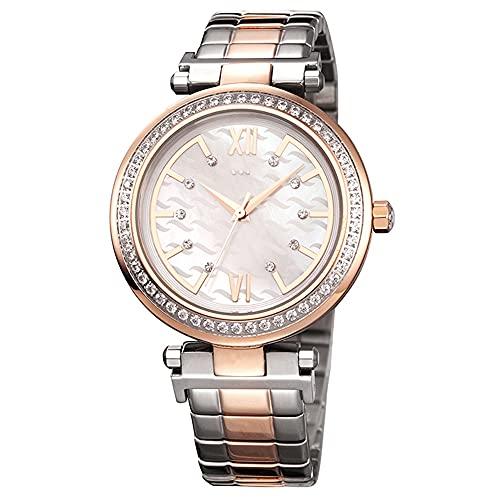 Relojes De Pulsera para Mujeres Cinturón De Acero Macizo Reloj Impermeable para Mujer con Incrustaciones De Diamantes Fina Hebilla De Mariposa De Alta Gama Movimiento Reloj De Mujer (Color : Silver)