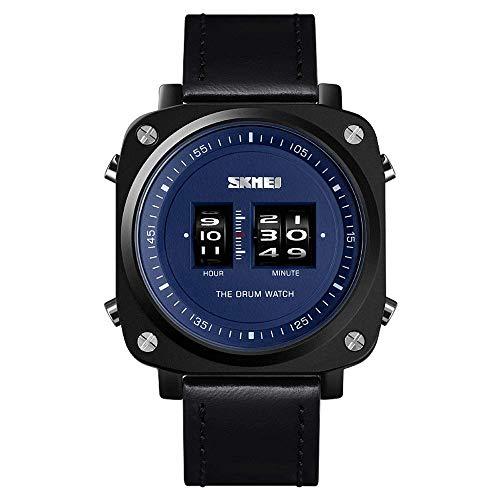 AZPINGPAN Armbanduhr mit Roller-Uhrwerk, quadratisches Zifferblatt, Business-Mode, Sport-Armbanduhren, 3 ATM Outdoor-Uhren für Herren, wasserdicht, Quarz-Armbanduhr