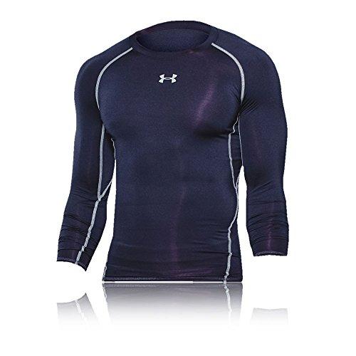 Under Armour Herren Kompressionsshirt HeatGear Armour langärmliges Funktionsshirt, atmungsaktives Langarmshirt für Männer, Blau, M