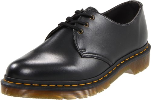 Dr. Martens Gibson 1461 Vegan Oxford,Black,3 UK (4 M US Men's/5 M US Women's)