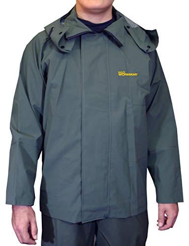 2600 シーマスター ジャケット 作業用 漁業 農業 カッパ 雨合羽 ネオワークギア (ダークグリーン, LL)