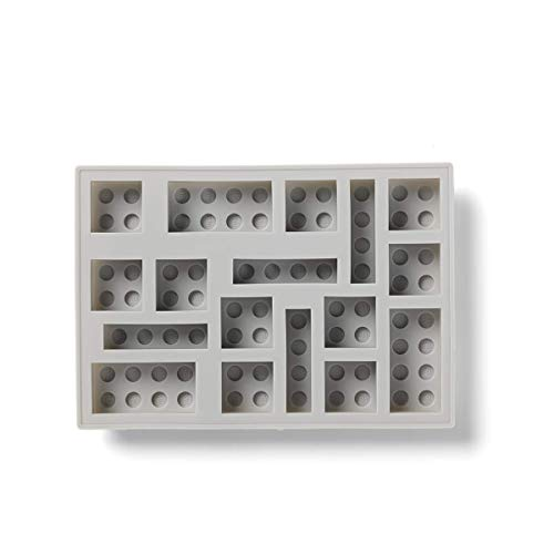 Room Copenhagen, LEGO Iconic Ice Cube Tray - Dishwasher Safe, Silicone Brick Mold - Stone Grey