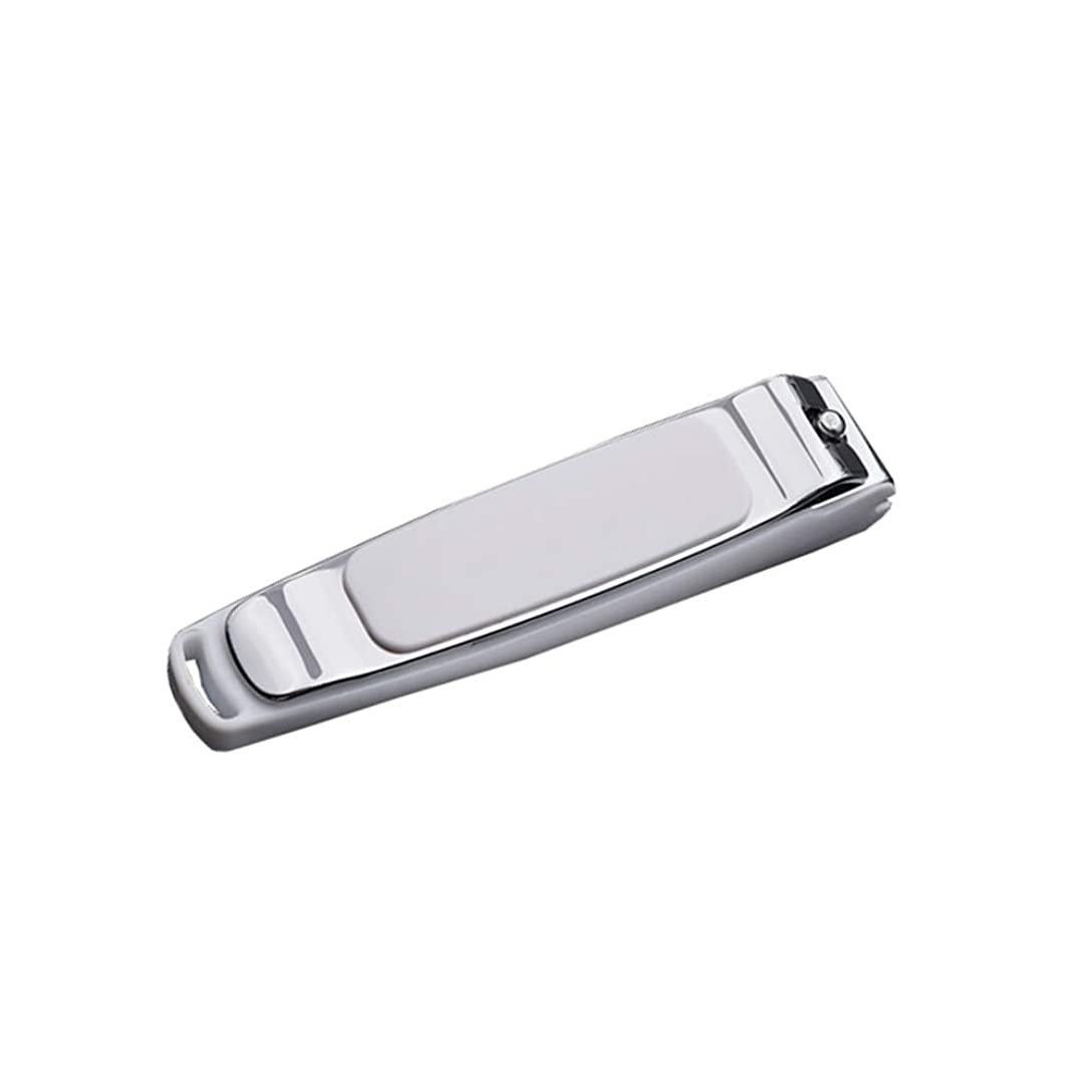 拾うファンシースポンサー平らな口 爪切り 飛び散り防止爪切り毎日の出張や旅行に適しています、シルバー