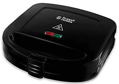 Russell Hobbs 24520 RU-24520 Sandwich Toaster Toastie Maker – Two Slice, Easy Clean Plates, Black