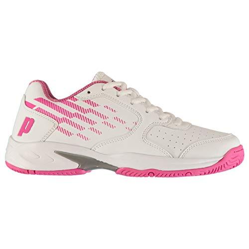 Prince Reflex Damen Tennis Schuhe Turnschuhe Low Top Weiß/Rosa 39.5 EU