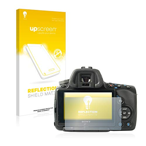 upscreen Entspiegelungs-Schutzfolie kompatibel mit Sony Alpha 55 (SLT-A55V) – Anti-Reflex Bildschirmschutz-Folie Matt