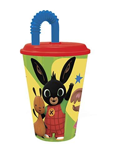 Bing Bicchiere Sport per Bambini, 430 ml, Giallo/Verde
