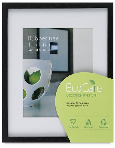 Rubberwood EcoCare CONTEMPORARY Black matted 11x14/8x10 frame by Nielsen - 8x10 by Nielsen Bainbridge?