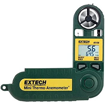 Extech Mini-Thermo-Anemometer mit Luftfeuchte, 1 Stück, 45158