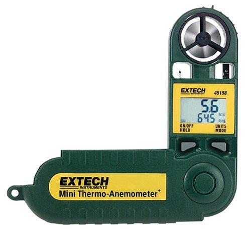 Extech 45158 Termo-anemómetro y medidor de humedad a prueba de agua tamaño mini