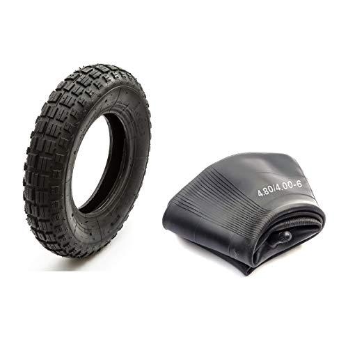 Neumático + Cámara 4.80/4.00-8 Protuberante Diseño DR49 Moto Cross Todoterreno para Tamaños 3.50-8 o 4.80-8 o 4.80/4.00-8