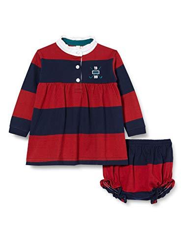 Gocco Vestido Polo Rayas Rojo Y Gris Dress, Granate, 44086 para Bebés
