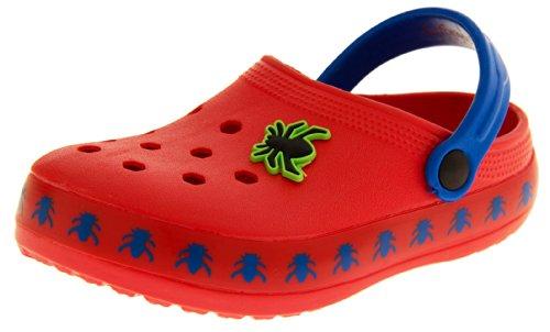 Footwear Studio , Bout fermé garçon - Rouge - rouge, 7 Child UK