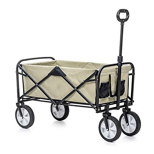 Faltbarer Einkaufswagen,Multifunktions-Aufbewahrungswagen mit Stahlrohrhalter und Picknickwagen für tragbares Familiencamping mit zusammenklappbarem Wagen