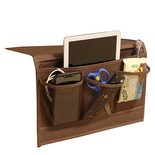 Bedside Caddy Bedside Table Organizer Storage Remote Caddy Hanging Bunk Bed Caddy for Phone Glasses Tablet Magazine College Dorm Essentials Armchair Organizer Couch Caddy Sofa Armrest Bag