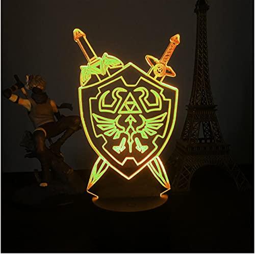 Lámpara De Luz Ambiental 3D, 7 Colores, Luces De Noche Led, Regalos Para Habitación De Amigos, Dormitorio, Lámpara De Ilusión Óptica, Decoración De Mesa De Escritorio