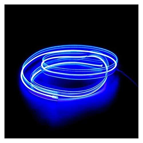 MUZIWENJU Auto Innenbeleuchtung 1m / 2m / 3m / 5m Streifen Auto l e d Streifen girland EL draht Seil Auto Dekoration neon l e d Lampe Flexible Seil Rohr (Farbe : 1M USB Drive, Größe : Blau)