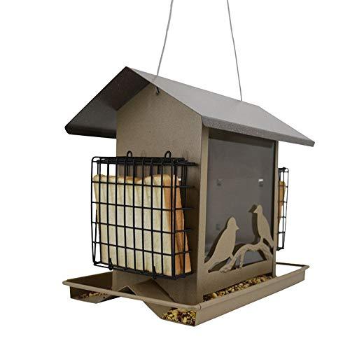 NgMik Comedero De Pájaros Para Semillas Alimentador Del Pájaro Balcón Wild Bird Nest Birdcage Weaving Alimentación De Aves Suministros Gran Idea De Regalo Para Los Amantes De La Natural