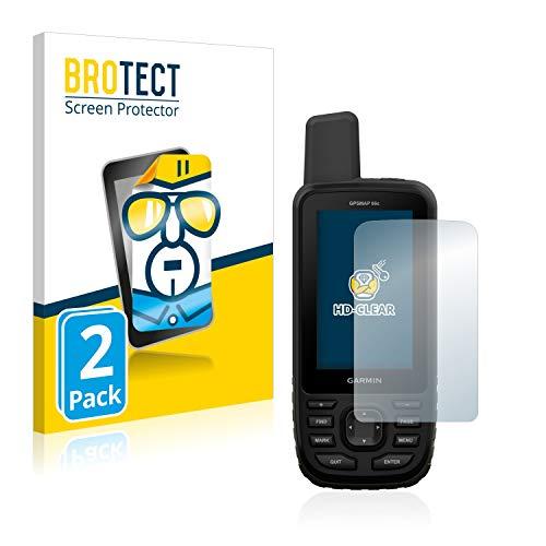 BROTECT Schutzfolie kompatibel mit Garmin GPSMAP 66s / 66st (2 Stück) klare Bildschirmschutz-Folie
