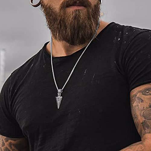 XIAOHNNL Arrowhead Kunai Primal Necklace For Men Spearhead Jewellery Stainless Steel Tribal Surf Pendant Jewelry