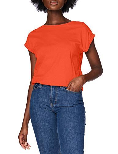 Urban Classics Damen Ladies Extended Shoulder Tee T-Shirt, bloodorange, L