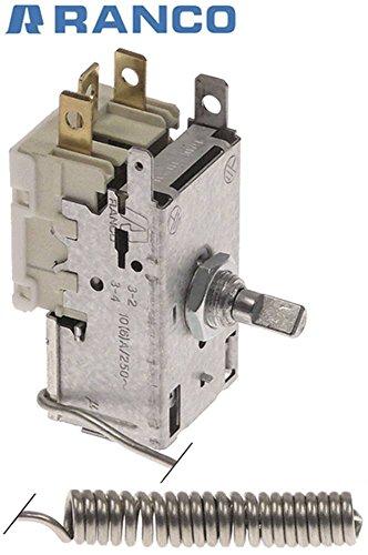 Ranco termostato calda l8103profondità K22sonda 2mm kapillarr ohrl aenge 1500mm 10°C sonda 48mm