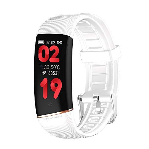 Zwbfu Pulsera Inteligente para Hombres Mujeres preciso Frecuencia cardíaca Presión Arterial Monitoreo de en gre Sueño científico Modo multideportivo IP67 Impermeable Fitness