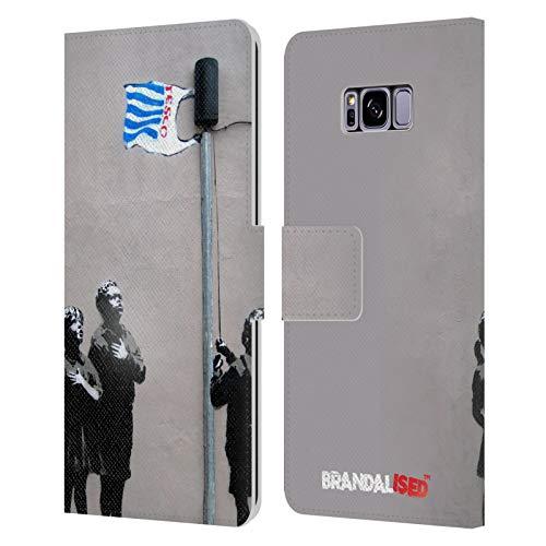 Head Case Designs Licenciado Oficialmente Brandalised Supermercado Graffiti de la Calle Carcasa de Cuero Tipo Libro Compatible con Samsung Galaxy S8+ / S8 Plus