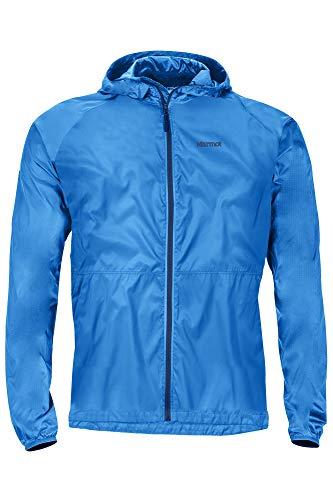 Marmot Herren Trail Wind Hoody Hardshell Regenjacke, Wasserdicht, Winddicht & Atmungsaktiv, Classic Blue, XL