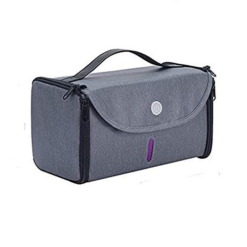 HUIDANGJIA UV Esterilizador uv Bolsa Plegable,Portátil,3 minutos en Desinfección 99%,USB Recargable,Caja de desinfectante UV,para mascarilla,parateléfonos celulares, vasos, botellas, ropa (gris)