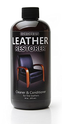 European Leather Restorer - The Best One Step Leather Conditioner and Cleaner for Furniture, Auto Interiors, Jackets, Purses, Boots, Sports Equipment, Saddles and Tack - 16 Ounce Bottle