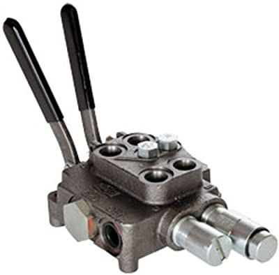 """CROSS Manufacturing 160698 SA Series Cast Iron Double Spool Monoblock Hydraulic Directional Control Valve, 4 Position, 7/8""""-14 x 7/8""""-14 x 3/4""""-16 SAE Female, 3000 psi, Grey from CROSS Manufacturing"""