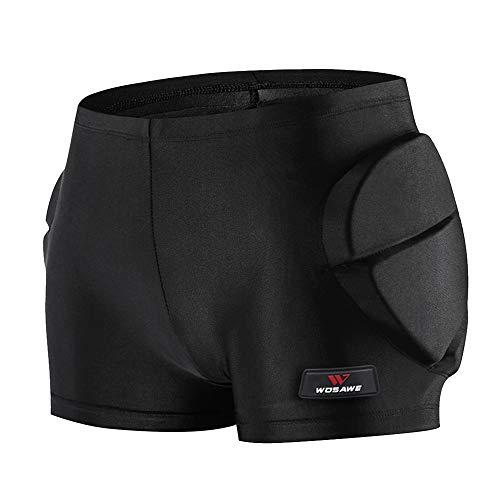 Lixada Shorts Acolchados Protectores para Niños para Cadera, Trasero, Cola, Snowboard, Patinaje, Esquí(S/M/L)