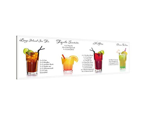 Klebefieber Glasbild Cocktail-Set B x H: 100cm x 40cm