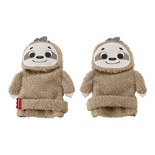 Fisher-Price GNF16 - Faultier waschbare Baby Socken zum Spielen mit Rassel und Knistergeräuschen 1 Paar, Babyspielzeug zum Anziehen
