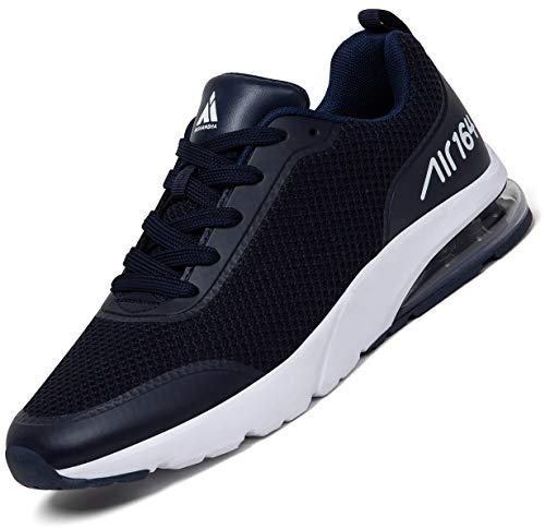 Zapatillas Fitness Hombre Aire Libre y Gimnasio Deporte Sneakers Casual Transpirables Zapatos Azul Oscuro 43 EU